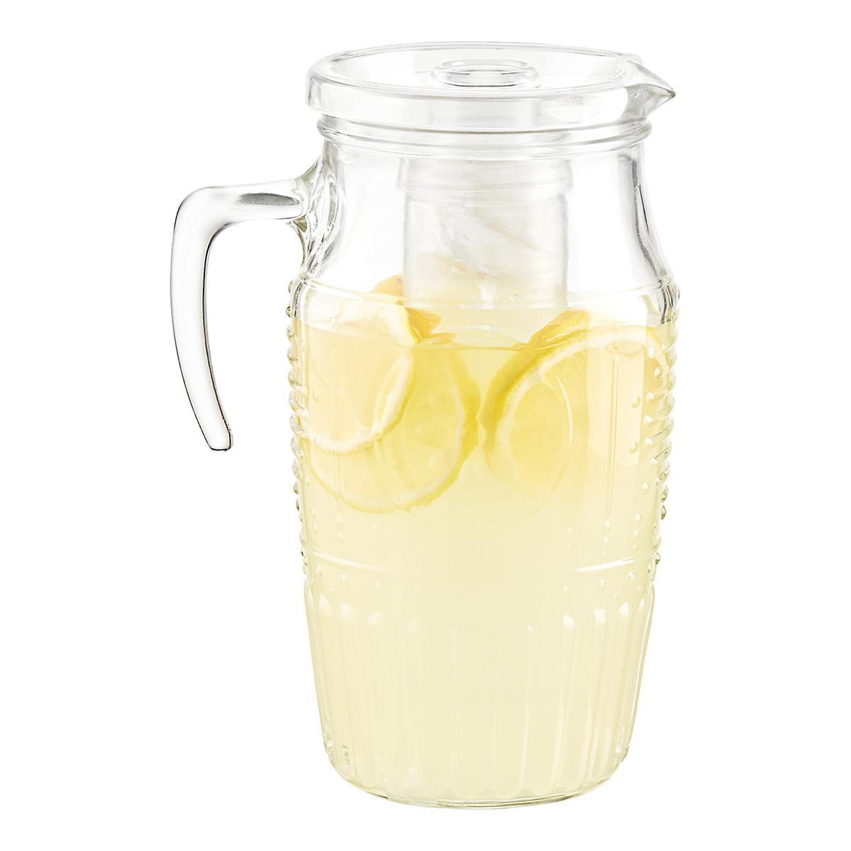 1.8 qt. Romantic Glass Carafe with Lid