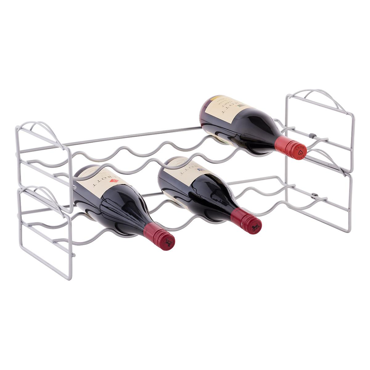 6-Bottle Stackable Wine Rack
