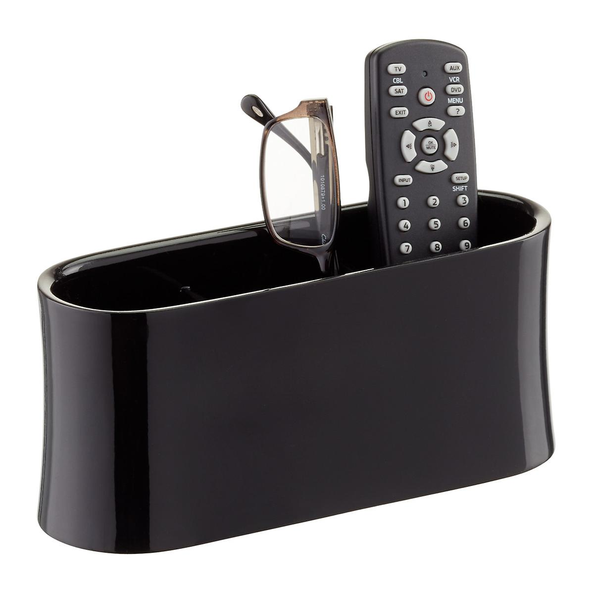 remote control holder oval remote control caddy the container store. Black Bedroom Furniture Sets. Home Design Ideas