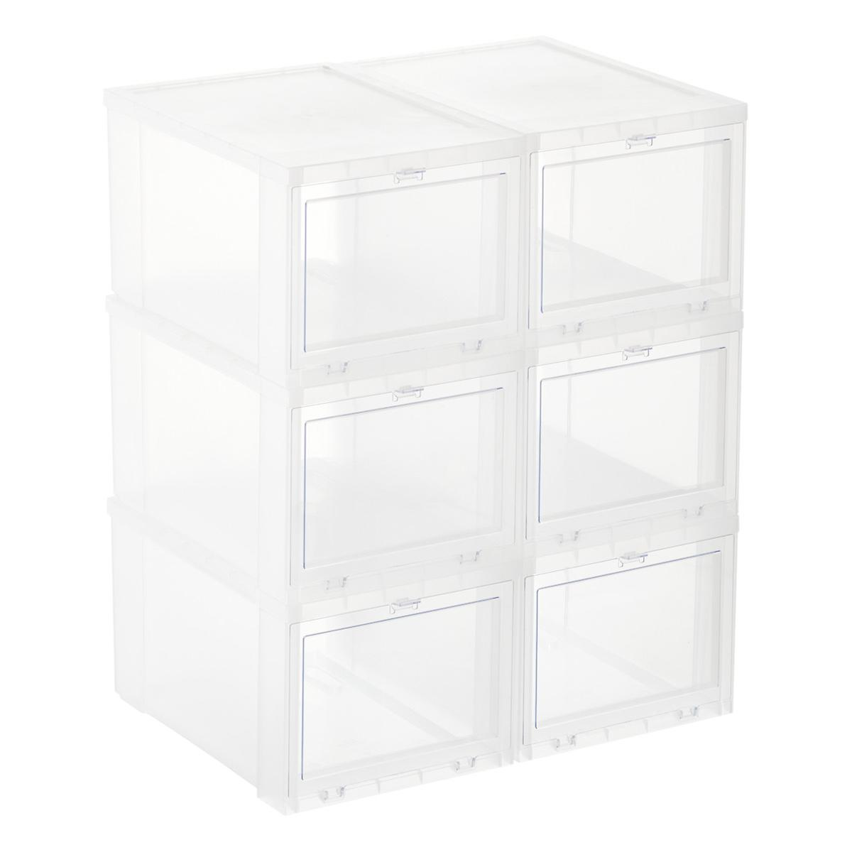 Drop Front Shoe Boxes Sneaker Storage Boxes The Container Store