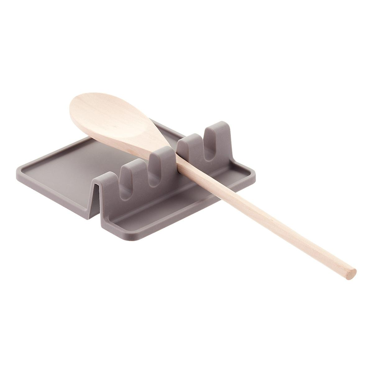 Grey Silicone Utensil Rest