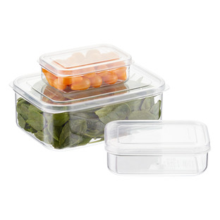 Lustroware Crystal Clear Rectangular Food Storage