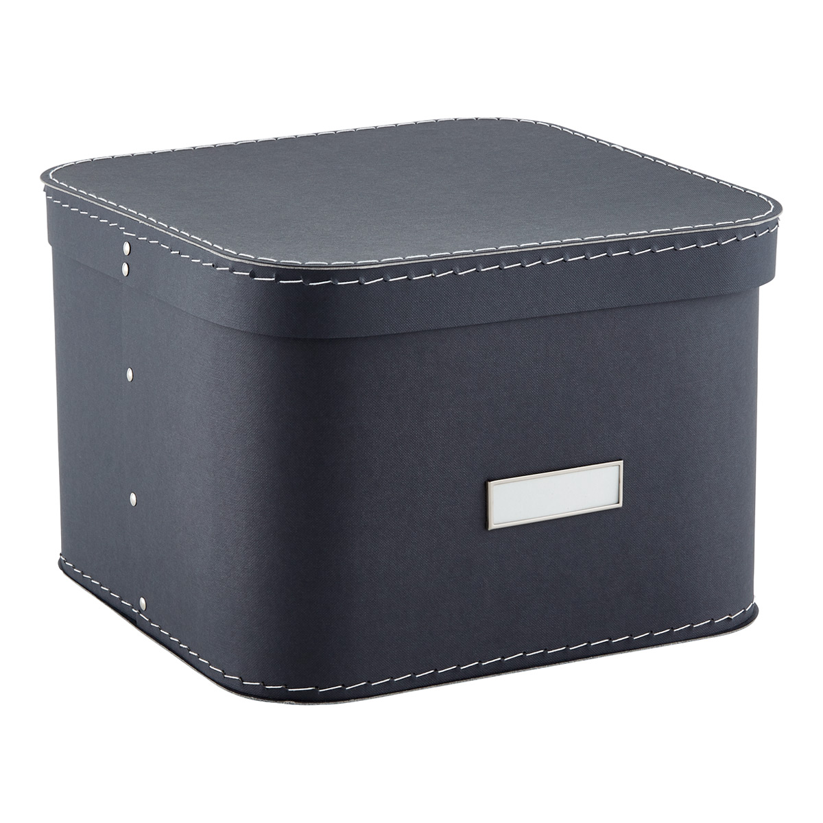 Etonnant Graphite Oskar Storage Box With Lid