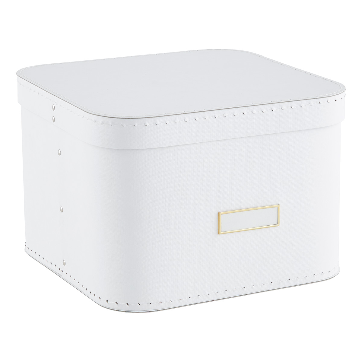White Oskar Storage Box with Lid