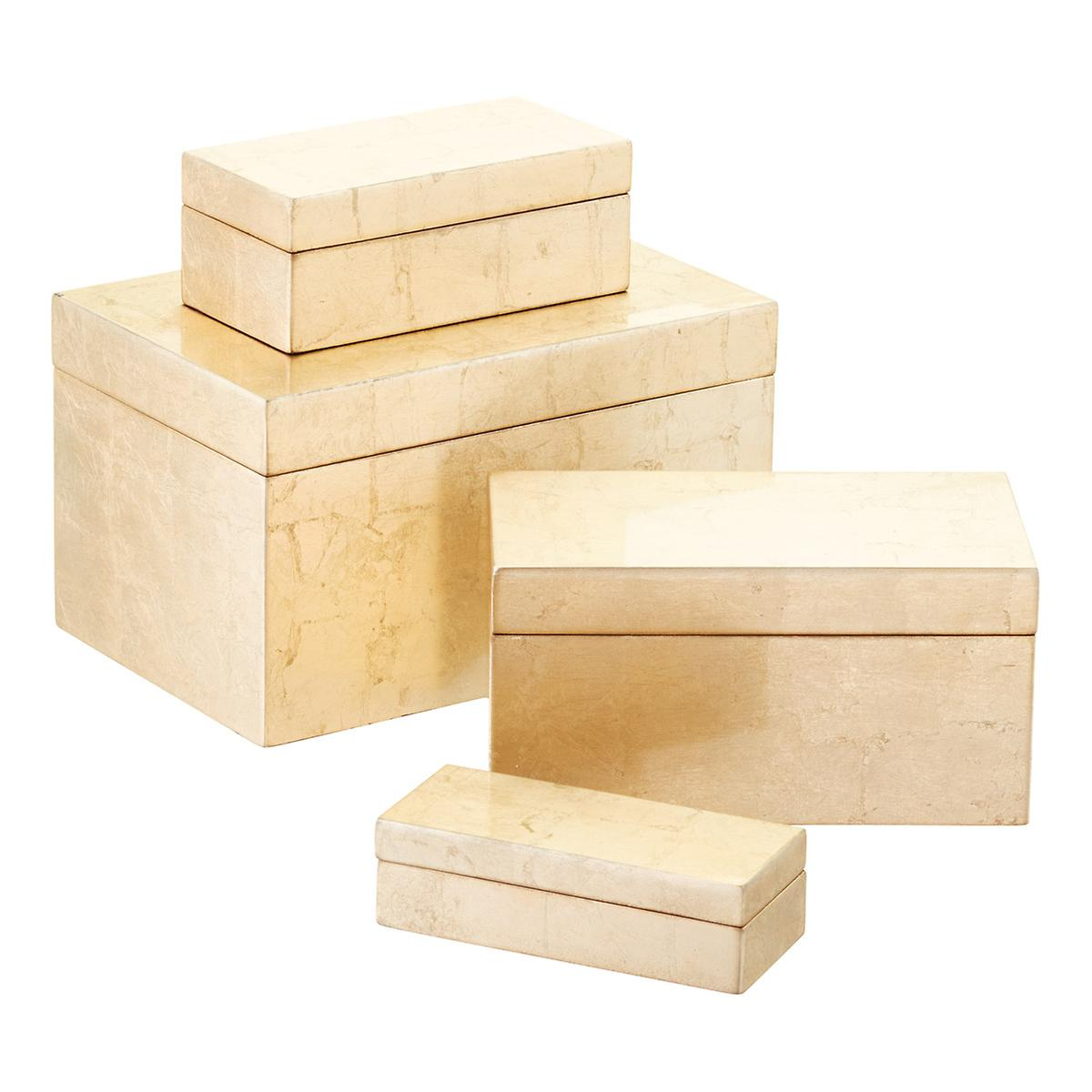 Gold Lacquered Storage Boxes