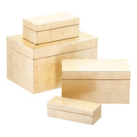 Gold Rectangular Lacquered Boxes