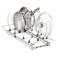 "Lynk 21"" Chrome Pull-Out Cookware Organizer"