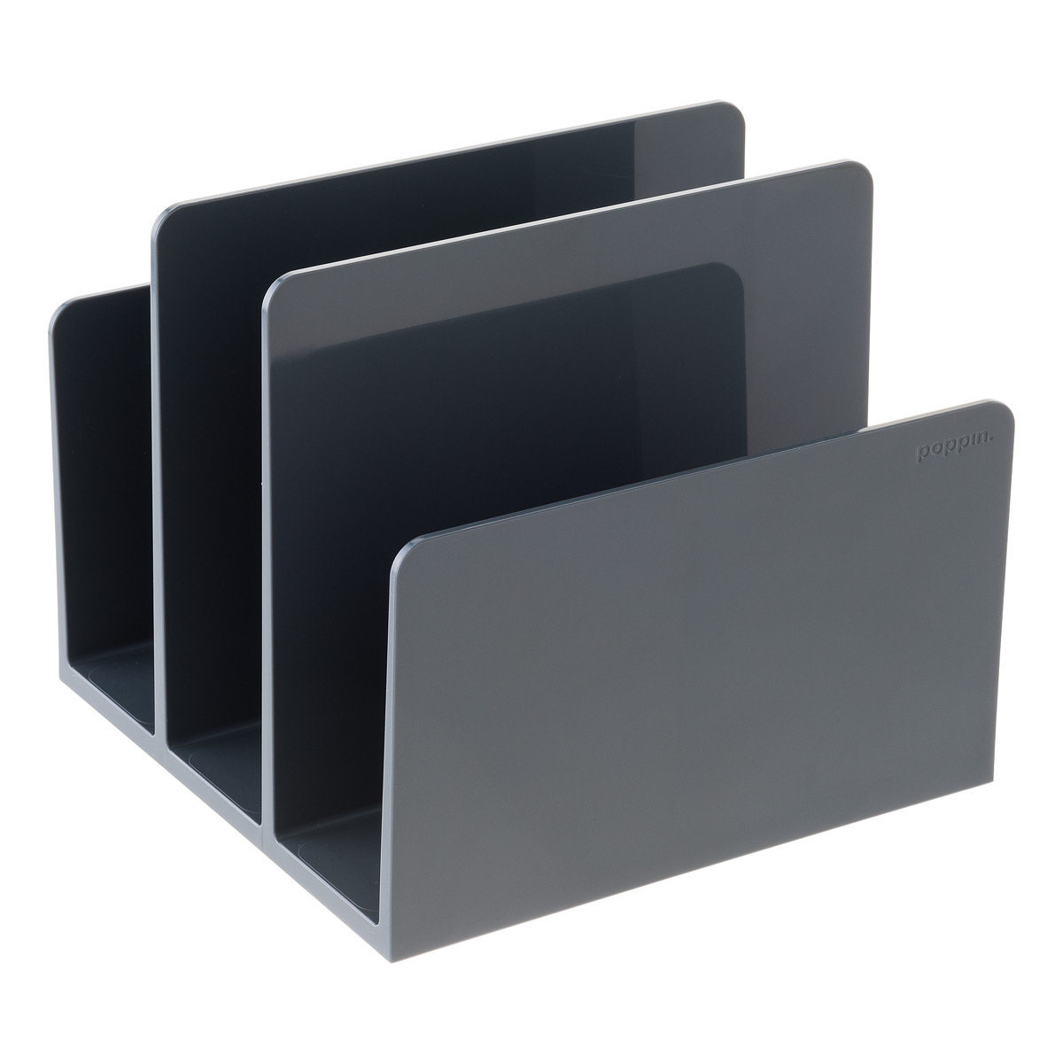 Dark Grey Poppin Fin File Sorter