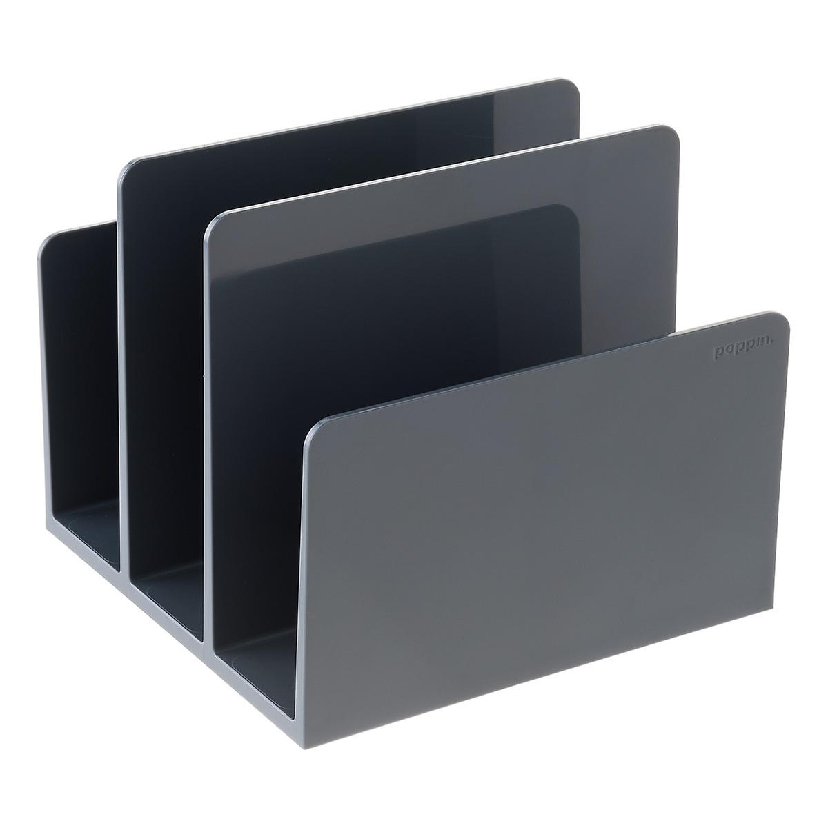 Dark Gray Poppin Fin File Sorter