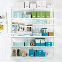 White elfa Craft Room Shelving