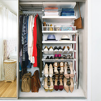 White elfa décor Reach-In Closet