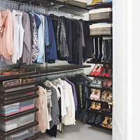 Walnut elfa décor Walk-In Closet