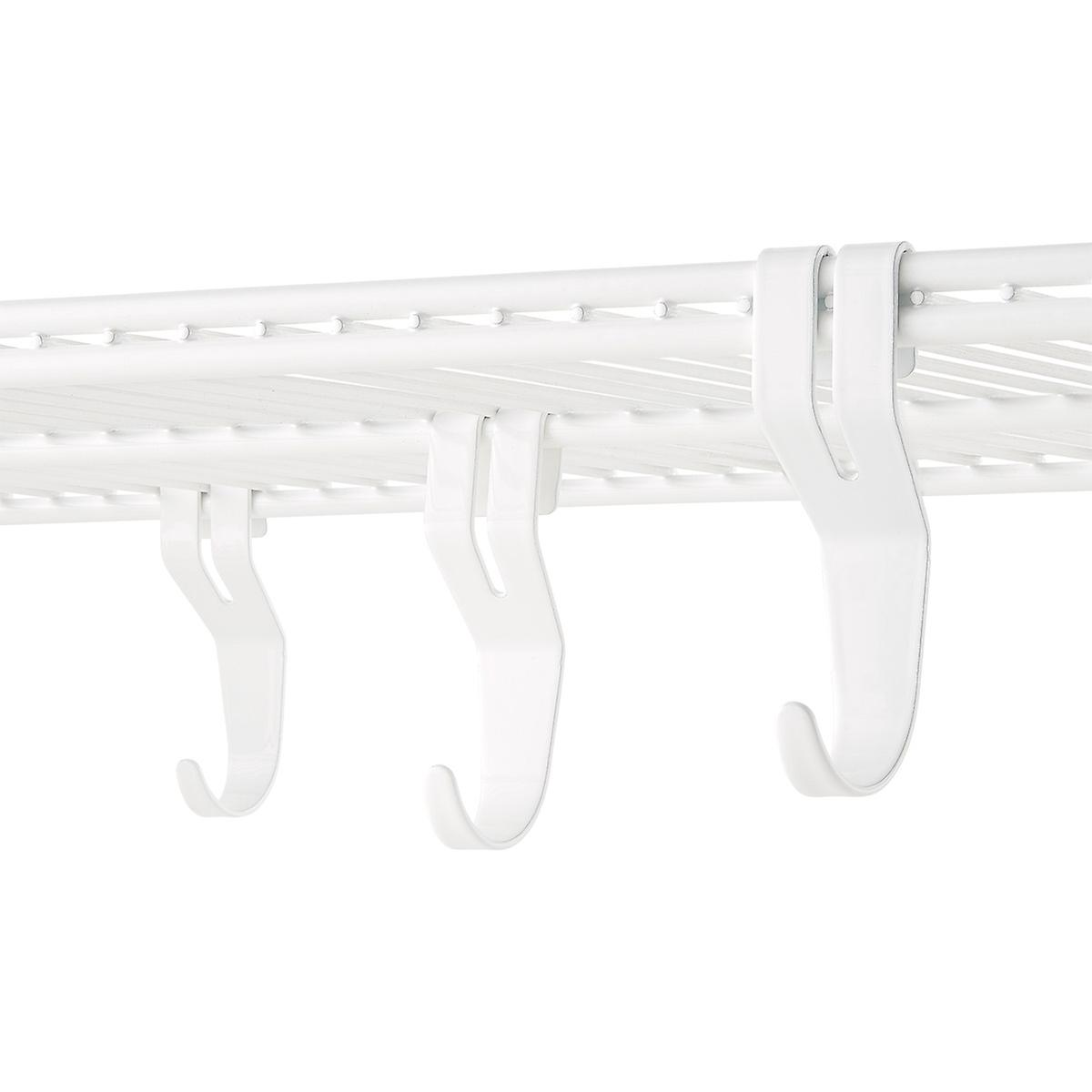 White elfa Shelf Hooks