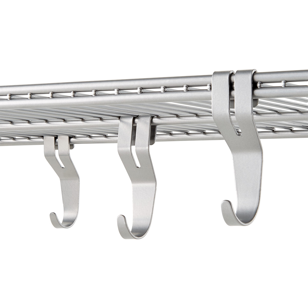 Platinum Elfa Shelf Hooks