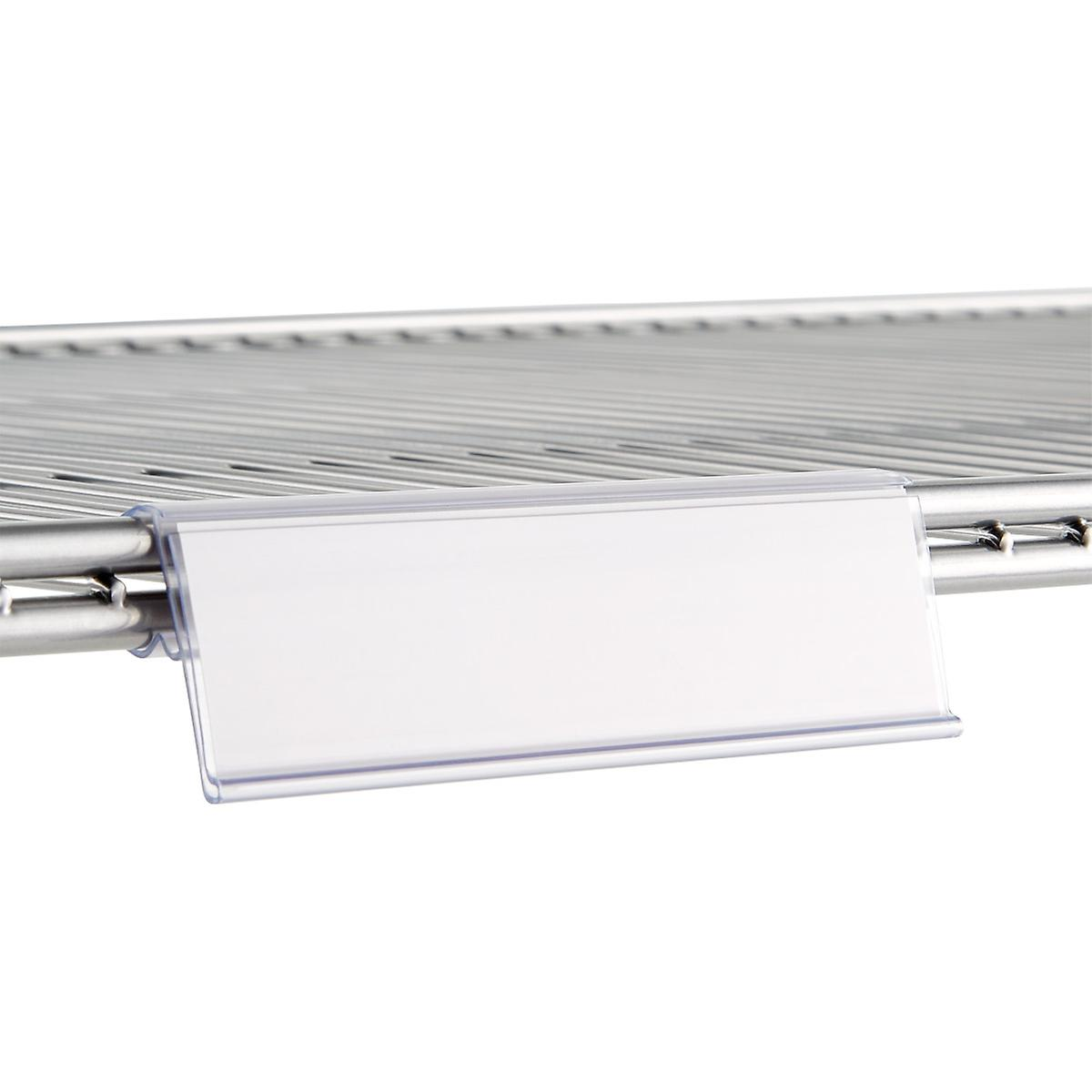 Elfa Ventilated Wire Shelf Label Holders The Container Store