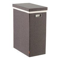 Dark Grey Poppin Laundry Hamper with Lid