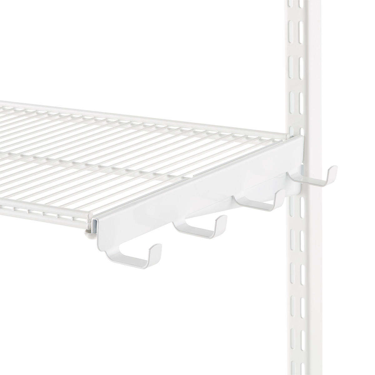 White Elfa Ventilated Wire Shelf Bracket Hooks