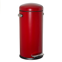 simplehuman Red 8 gal. Retro Step Trash Can