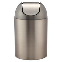 Umbra Gunmetal Metallic Mezzo Swing-Lid Trash Can