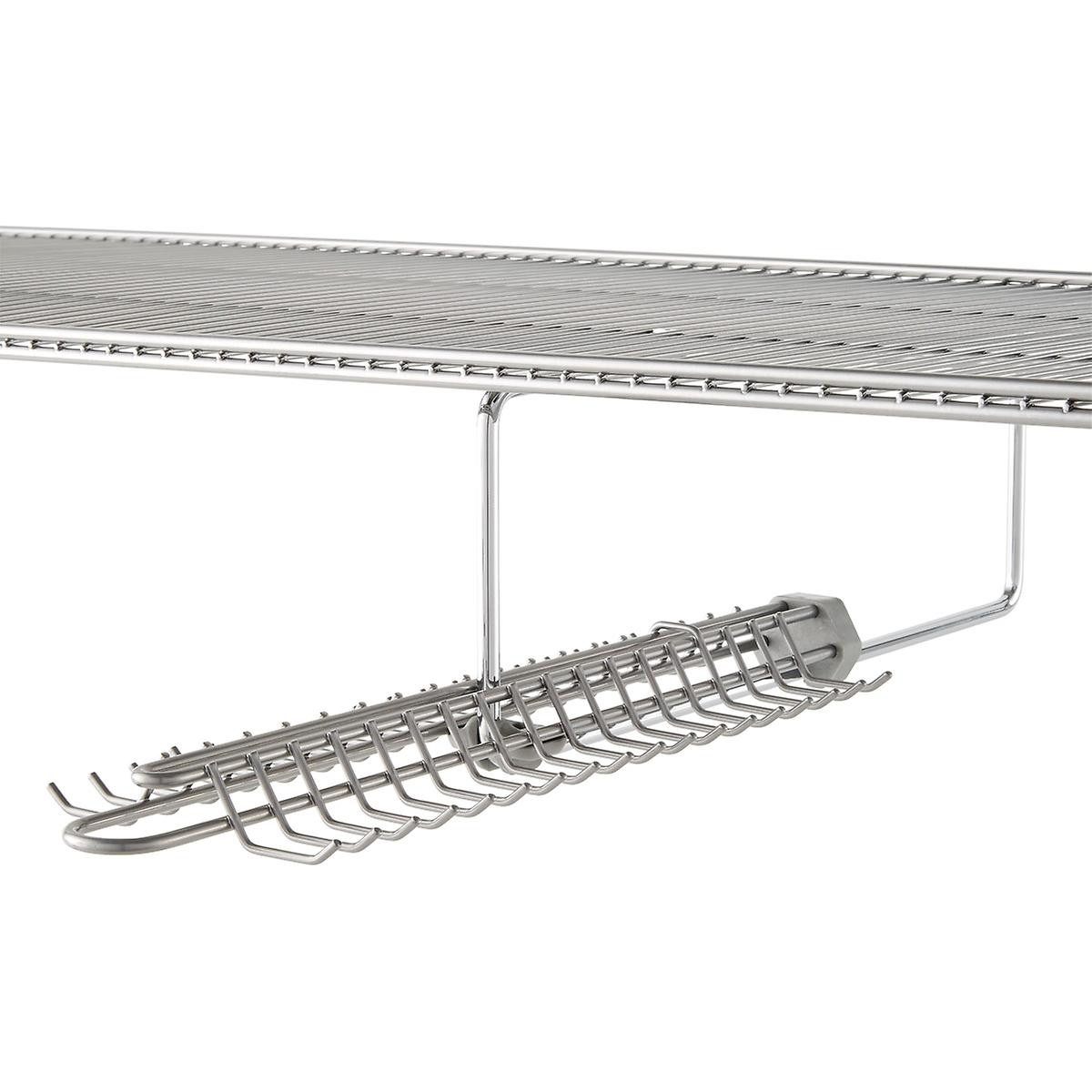 tie rack elfa gliding tie belt rack the container store. Black Bedroom Furniture Sets. Home Design Ideas