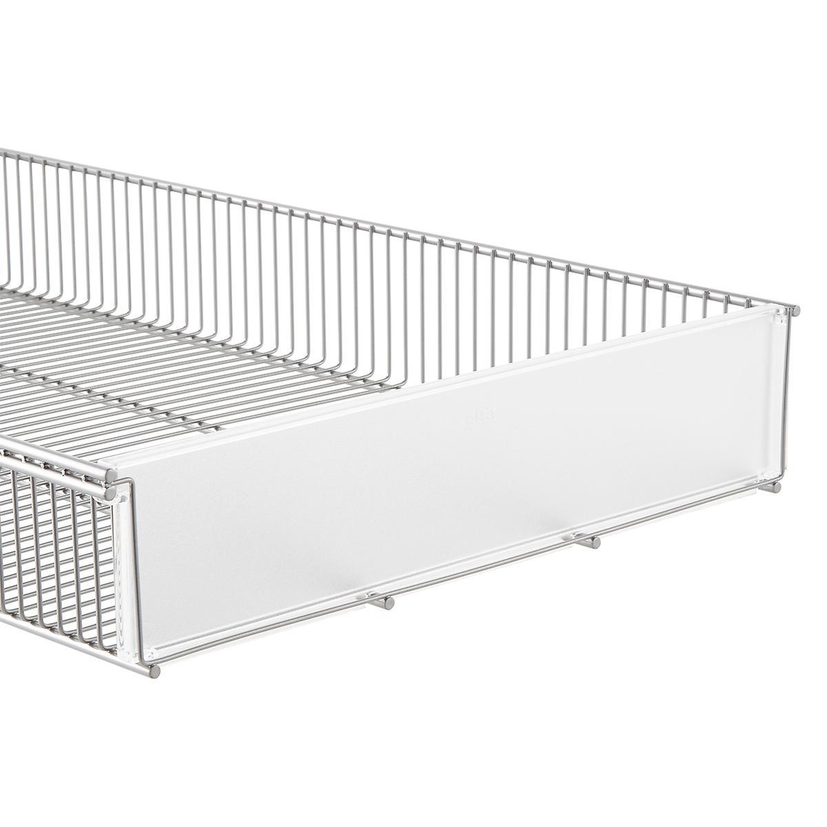 Clear Elfa Shelf Basket Dividers