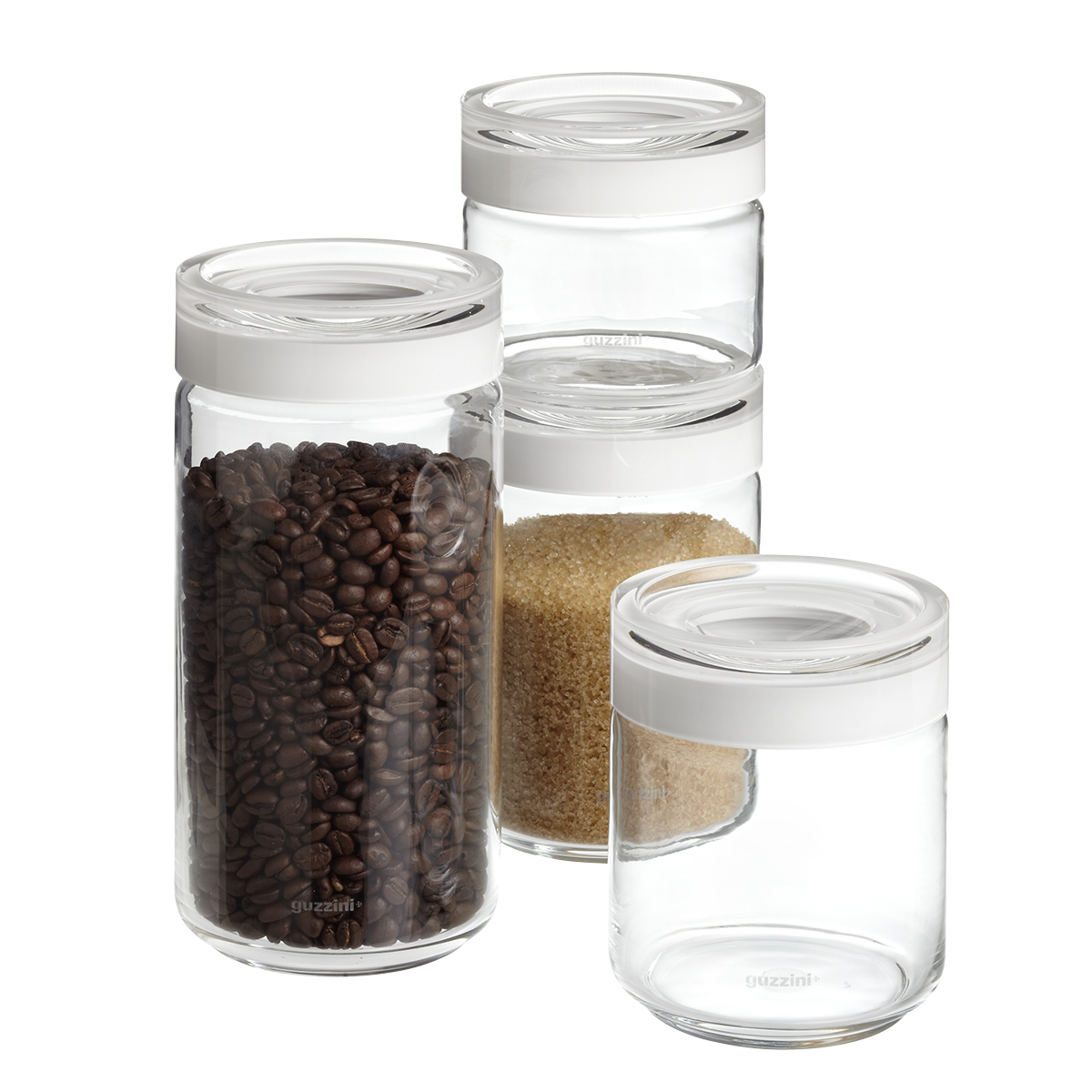 Nice Blanca Glass Canisters By Guzzini