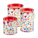 Dot Paint Cans with Red Lids