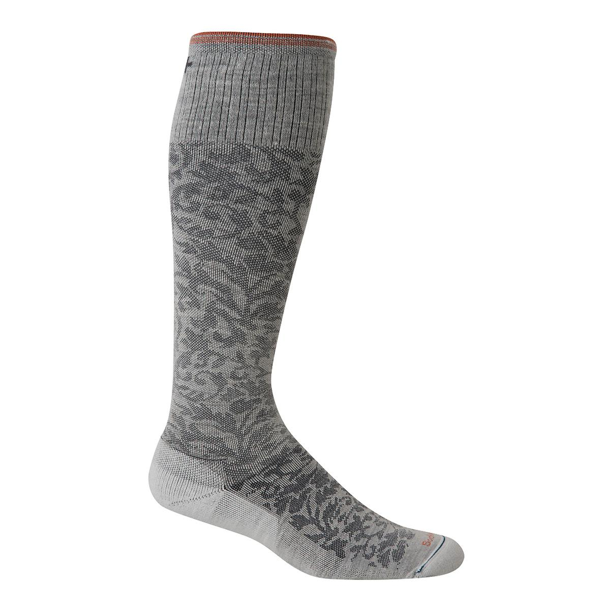 Grey Damask Compression Socks
