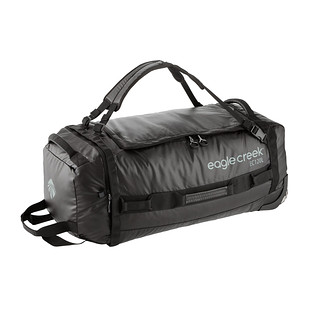 Eagle Creek Black Cargo Hauler Folding Rolling Duffel