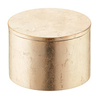 Gold Round Lacquered Box