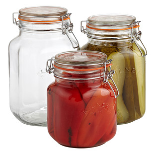 Square Hermetic Canning Jars by Kilner