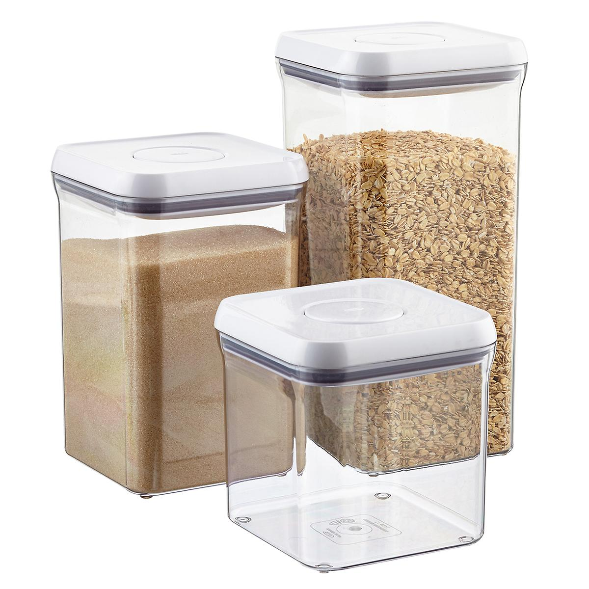 Oxo Good Grips 6 Quot Square Pop Canisters The Container Store