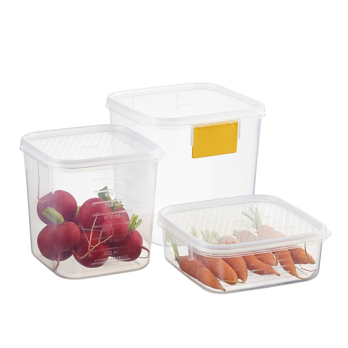 tellfresh square food storage the container store. Black Bedroom Furniture Sets. Home Design Ideas