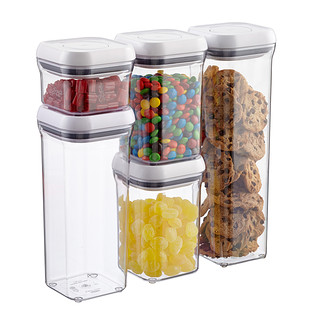 oxo good grips 5 piece pop canister set airtight storage   the container store  rh   containerstore com
