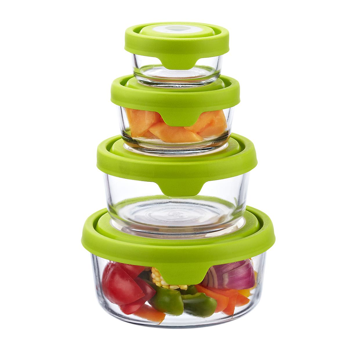 Anchor Hocking Glass TrueSeal Round Food Storage Containers ...