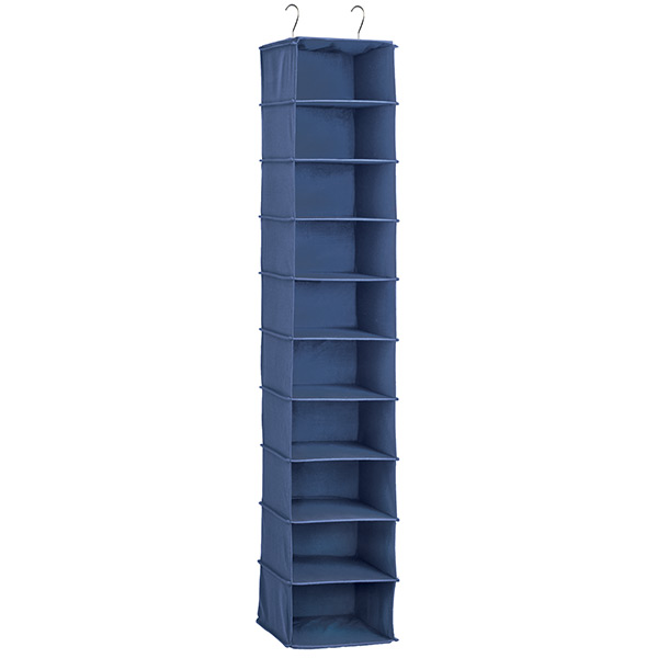 Beautiful Indigo 10 Compartment Hanging Shoe Organizer