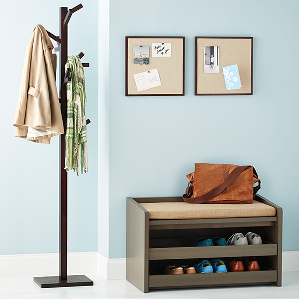 Foyer Mudroom Kit : Our mercer entryway starter kit the container store
