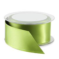 Kiwi Double Satin Wired Ribbon