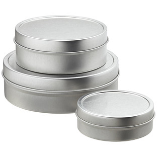 Shallow Seamless Tins The Container Store