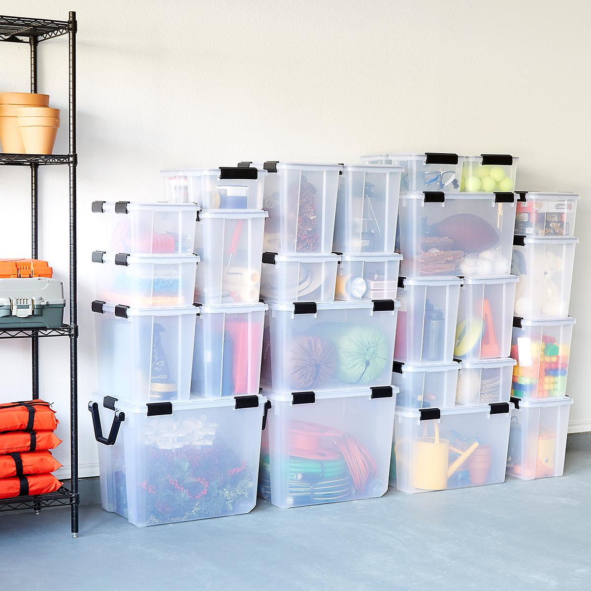 Clear Weathertight Totes The Container Store