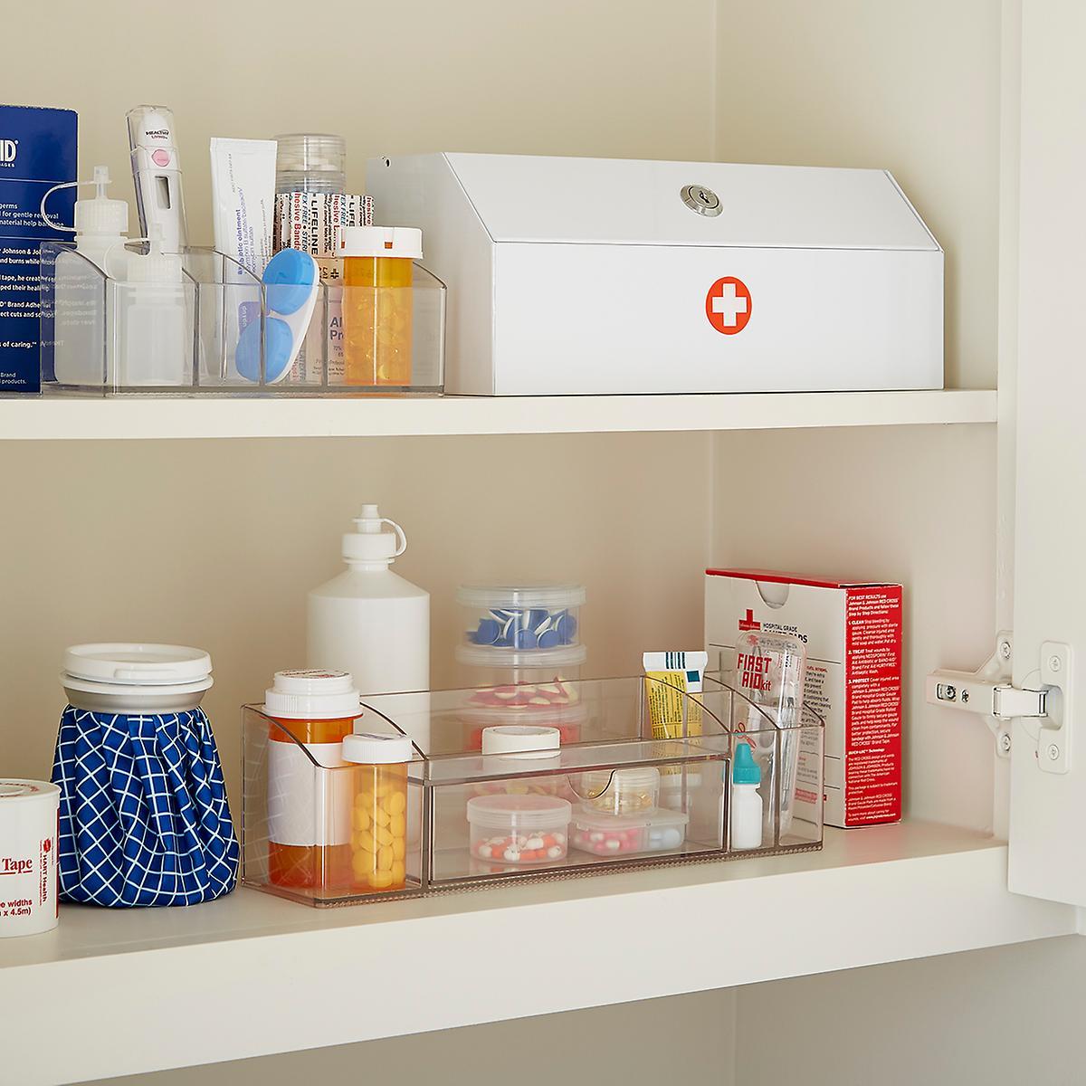 Medicine cabinet organizer linus medicine cabinet for Bathroom organizers