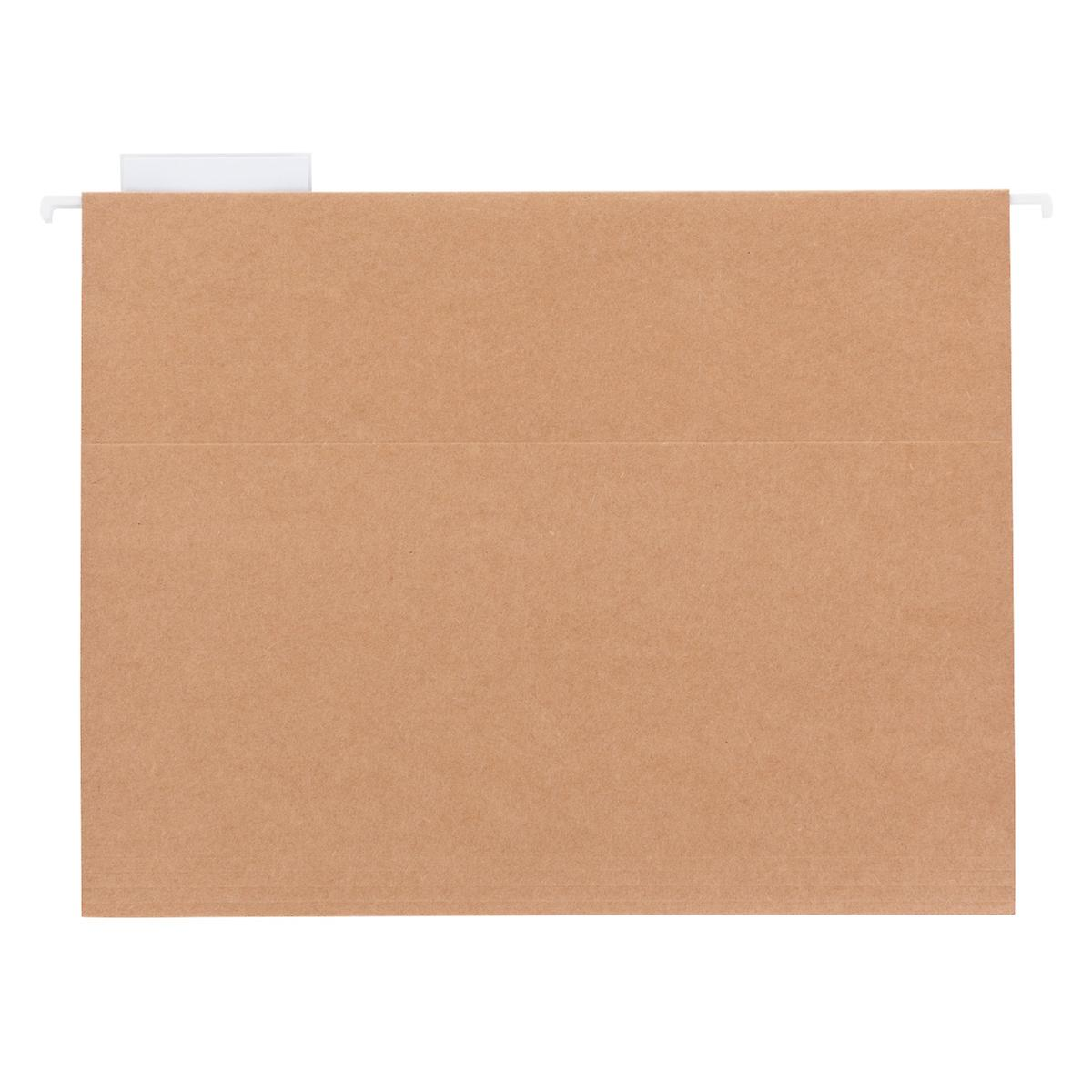 Kraft letter size hanging file folders the container store for Suspension fille