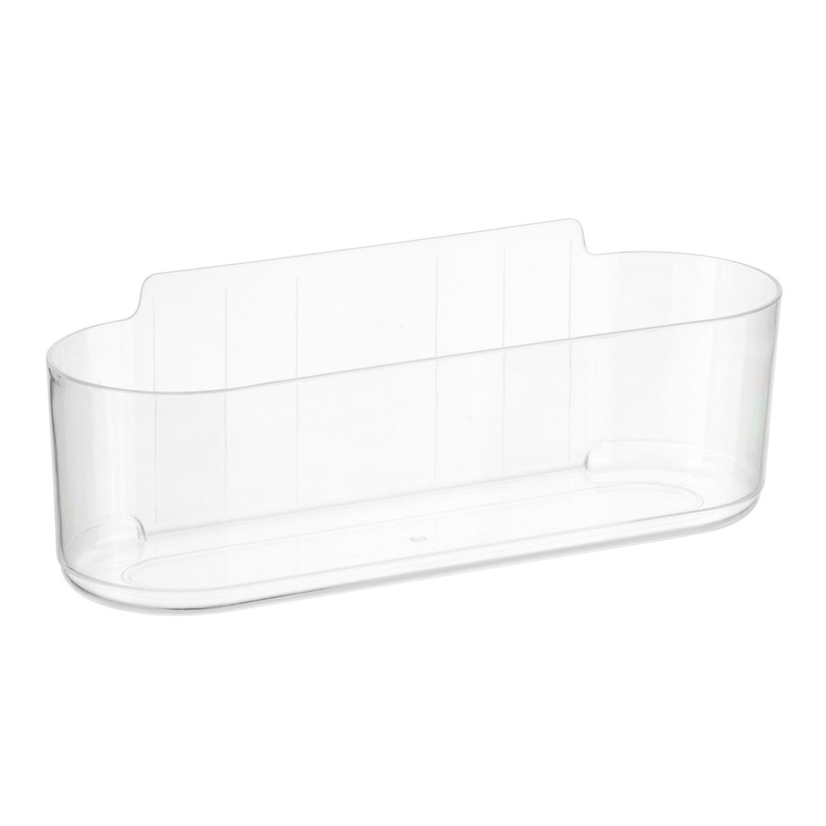 3m command clear caddies the container store for Clear bathroom containers