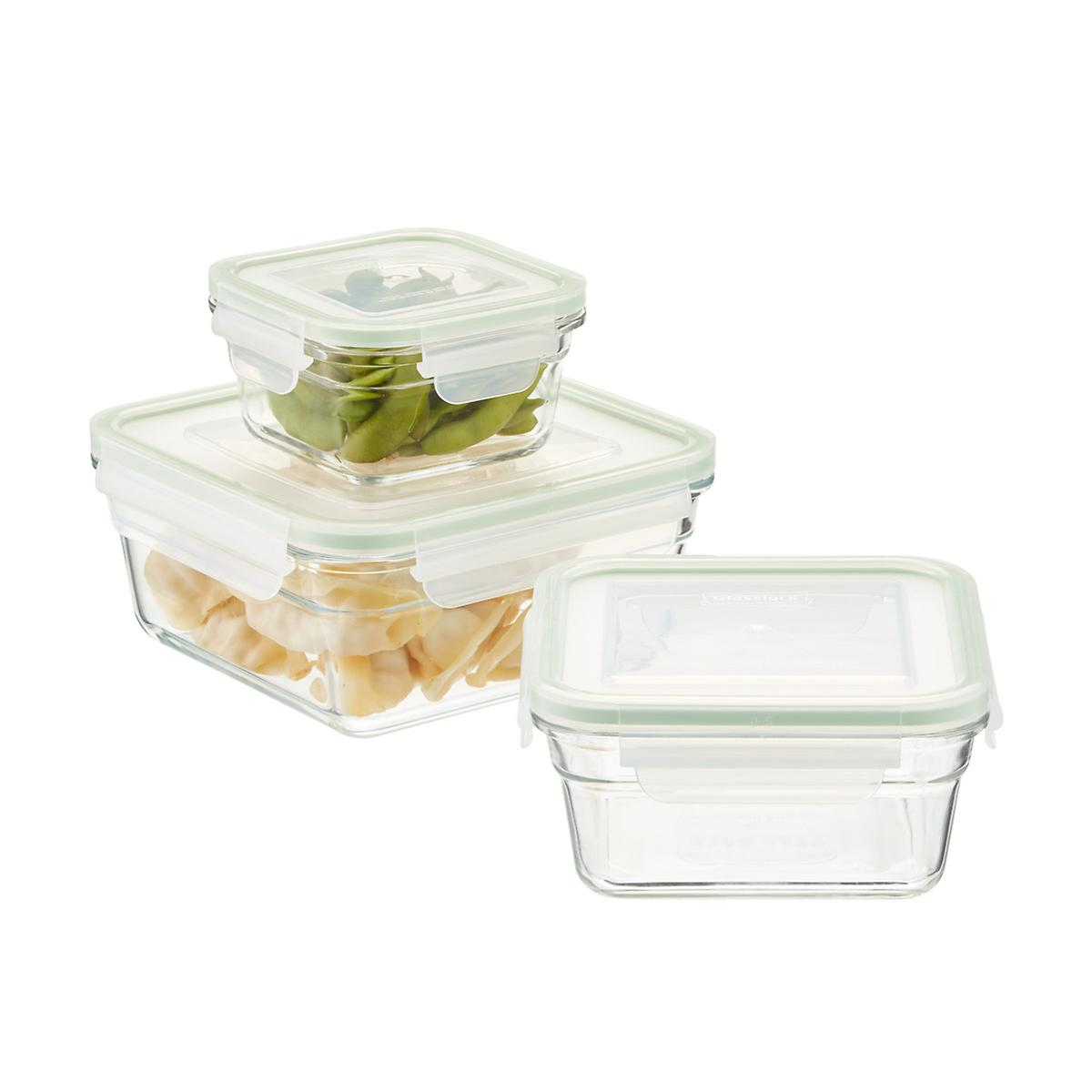 Glasslock Square Food Containers With Lids The Container