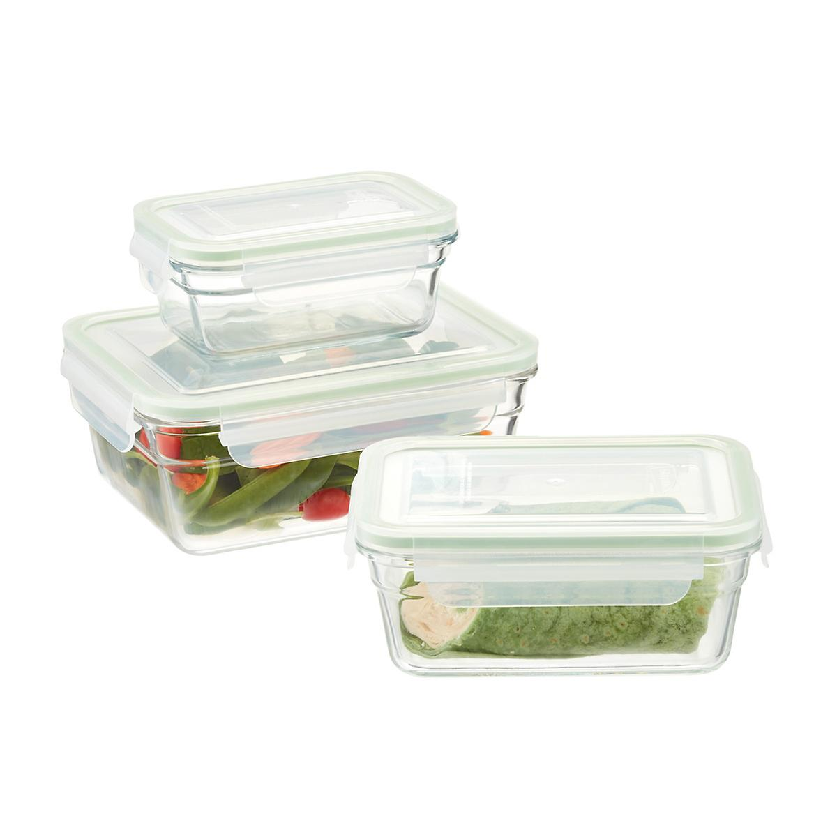 rectangular glass food storage containers