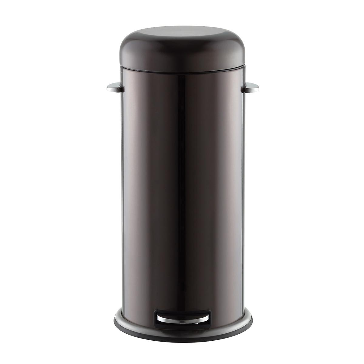 Black Stainless Steel 8 gal. Retro Trash Can