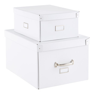 Our White Bigso Storage Boxes