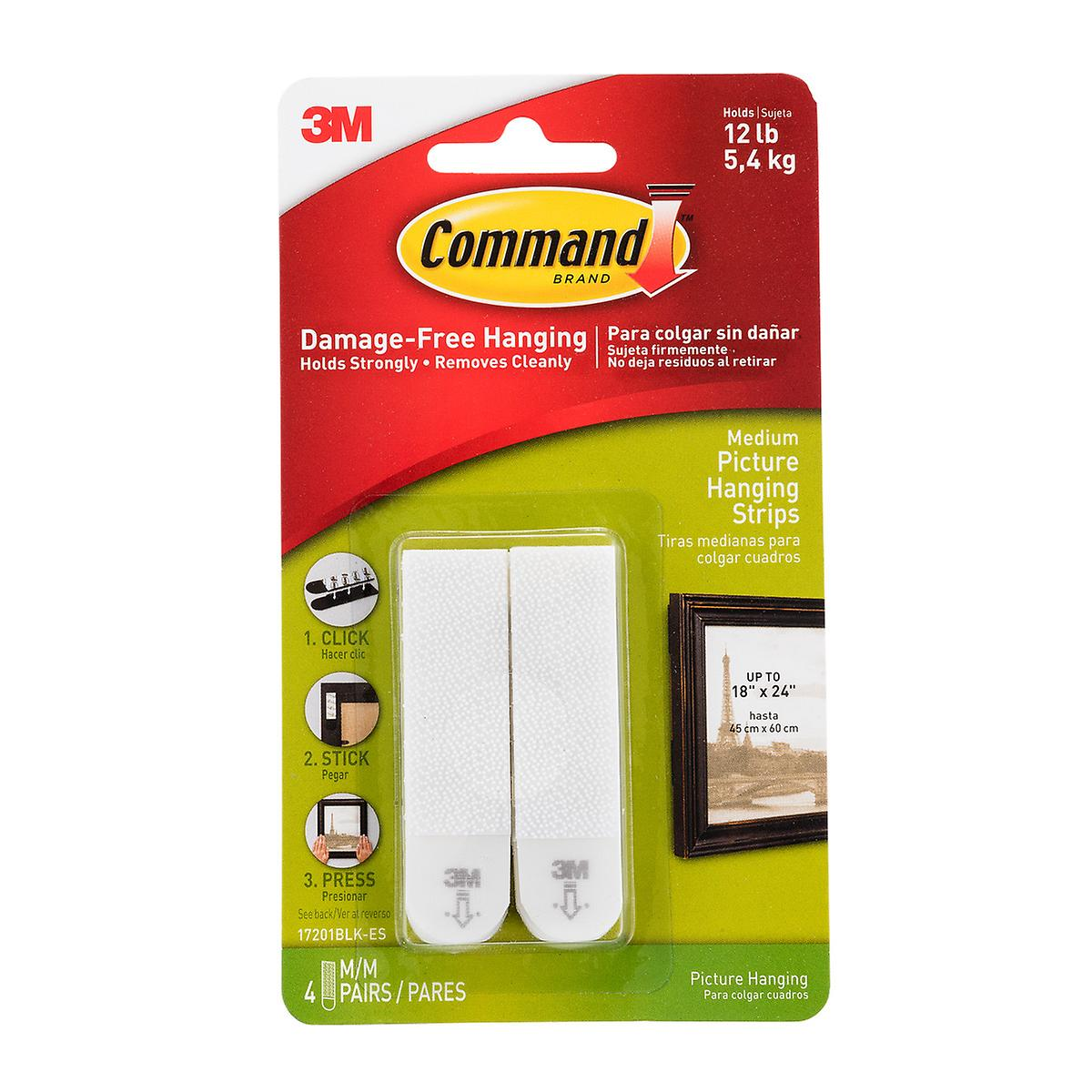 3m command adhesive picture hanging strips the container. Black Bedroom Furniture Sets. Home Design Ideas
