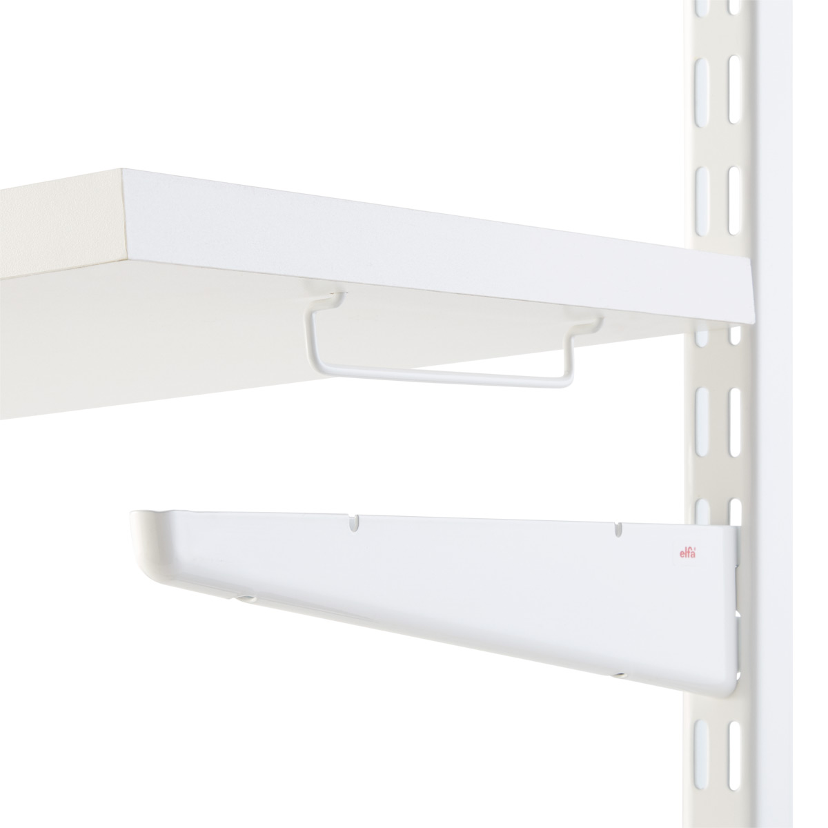 White Solid Shelf Connectors