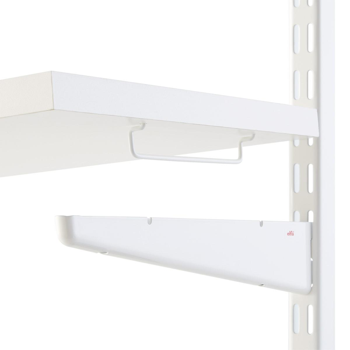 White Solid Shelf Connectors ...